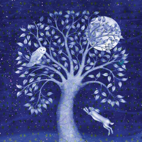 Blue Winter Greetings Card