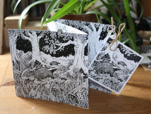 The Badger Sett Concertina Greetings Card