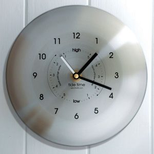 Time & Tide Clock – Stainless Steel