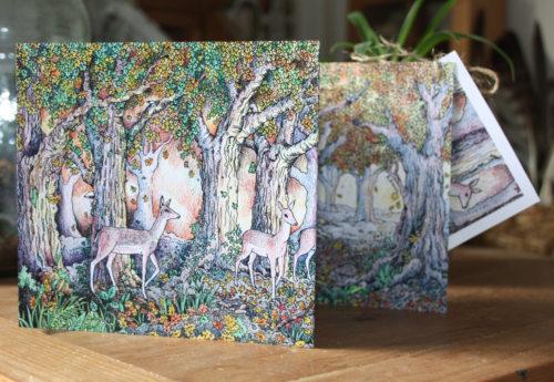 Woodland Edge Concertina Card